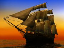 The ancient ship Royalty Free Stock Image