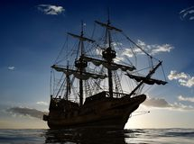 The ancient ship Royalty Free Stock Photos