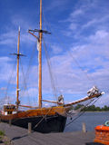 Ancient ship. Ancient wooden ship in city Helsinki Stock Photo