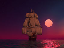 The ancient ship vector illustration