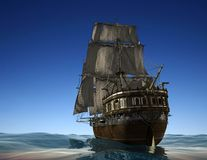 The ancient ship Stock Photography