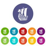 Ancient ship icon, simple style. Ancient ship icon. Simple illustration of ancient ship vector icon for web Royalty Free Stock Image