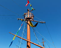 Ancient ship mast Royalty Free Stock Photography