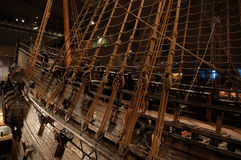 Ancient ship, vessel. Ancient vessel at Vasa museum, Stockholm, Sweden Royalty Free Stock Photo