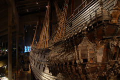 Ancient ship, vessel. Ancient vessel at Vasa museum, Stockholm, Sweden Royalty Free Stock Photos