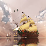 Ancient Ships Royalty Free Stock Photos
