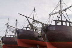 Ancient ships Royalty Free Stock Images