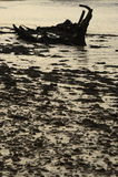 An ancient shipwreck on an estuary seashore Stock Photography