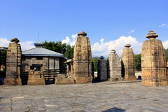 Ancient Shiva Temple - The Baijnath Temple. The Baijnath Temple built by the Kumaon Katyuri king in around 1150 A.D. and located in Uttarakhand, India Royalty Free Stock Photo