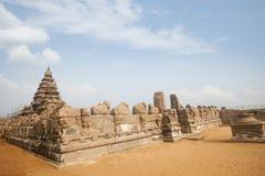 Ancient Shore Temple at Mahabalipuram Stock Photo