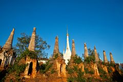 Ancient Shwe Inn Thein Pagoda in Myanmar Royalty Free Stock Photo