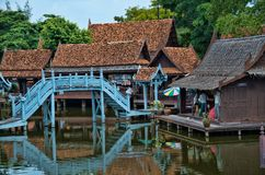 ANCIENT SIAM. Is area near Bangkok,built in the shape of state of ,with replica of all important buildings, temples , monasteries, show how was the life in Royalty Free Stock Photos