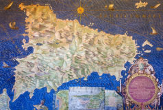 Ancient Sicily Map Royalty Free Stock Image