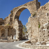 Ancient Side entrance gate Royalty Free Stock Images