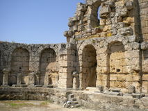 Ancient. Side, Turkey Altalya region ancient architecture royalty free stock photos