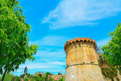 Ancient sighting tower in San Gimignano Royalty Free Stock Photography