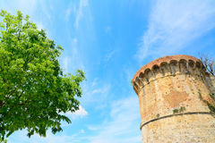 Ancient sighting tower in San Gimignano Stock Image