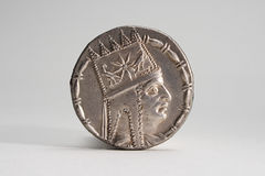 Ancient Silver Coin 1 Stock Photos