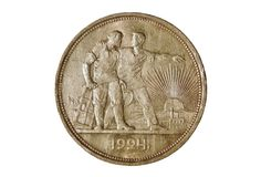 Ancient silver coin 1 ruble 1924 Stock Photography