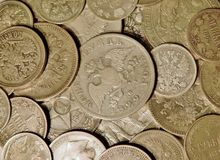 Ancient silver coins royalty free stock image