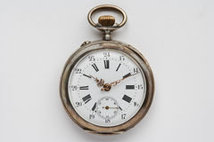Ancient silver pocket watch Royalty Free Stock Photo
