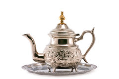 Ancient silver teapot Royalty Free Stock Photo