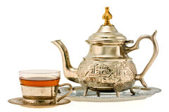 Ancient silver teapot Stock Images