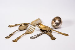 Ancient silverware Stock Images