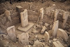Ancient Site of Göbekli Tepe in southern Turkey royalty free stock image