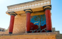 Ancient site of Knossos in Crete Stock Photo