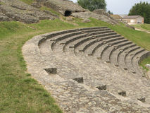 Ancient sitting benches Royalty Free Stock Photo