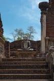 Ancient sitting Buddha image Stock Photos