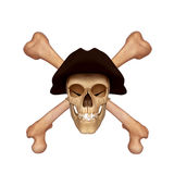 Ancient skull with hat Royalty Free Stock Photography
