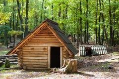 Ancient Slavic loghouse Stock Image