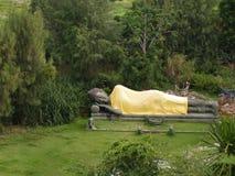 Ancient sleep image of buddha. With blue sky Royalty Free Stock Photo