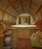 Ancient sleeping room Royalty Free Stock Photography