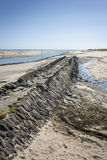 Ancient Slipway, Portbail, Normandy, France Royalty Free Stock Photos