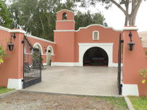 Ancient small catholic church in mint condition, Lima Stock Photography