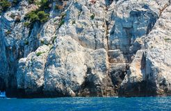 Palmaria island, La Spezia, Italy. Beautiful rocky sea coast of Palmaria island near Portovenere (Gulf of Poets, Cinque Terre National Park, La Spezia royalty free stock image