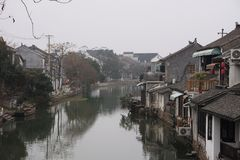 Ancient small chinese village close to Shanghai China Stock Photography