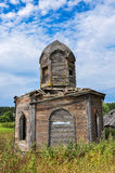 Ancient small wooden chapel Royalty Free Stock Images