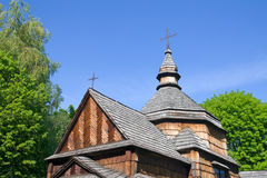Ancient small wooden church Royalty Free Stock Photos