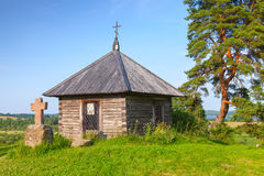 Ancient small wooden Orthodox chapel Royalty Free Stock Image