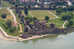 Ancient smederevo fort on Danube river Stock Image