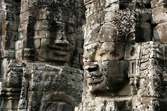 Ancient smiles. Taken in Ankor Wat in Cambodia Royalty Free Stock Image