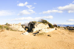 Ancient smokehouse. Turkey. Side beach Royalty Free Stock Photo