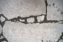 Ancient smooth white paving stone Royalty Free Stock Photography
