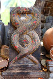 Ancient Snake statue. India Royalty Free Stock Photos