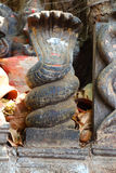 Ancient Snake statue. India Royalty Free Stock Photography