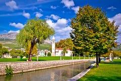 Ancient Solin church and Jadro river Royalty Free Stock Photo